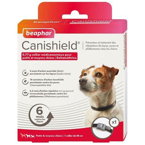 1 collar de perro contra pulgas 48 CM, garrapatas y mosquitos perros pequeños y medianos