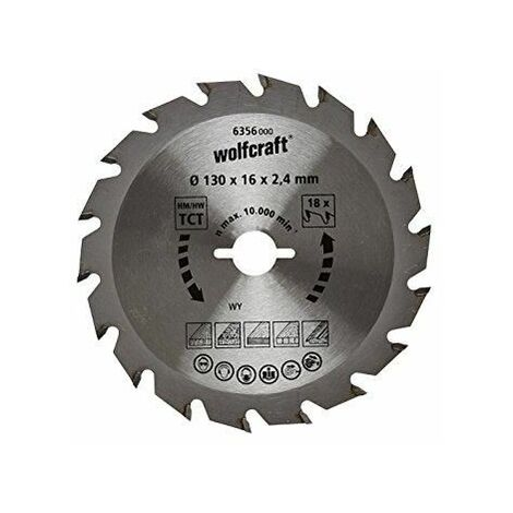1 disco de sierra circular 2,4mm Wolfcraft ø 127 mm x ø 12,75 mm x 2,4 mm