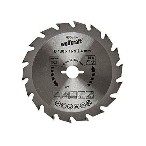 1 disco de sierra circular 2,4mm Wolfcraft Ø 130 x 16 x 2,4 mm