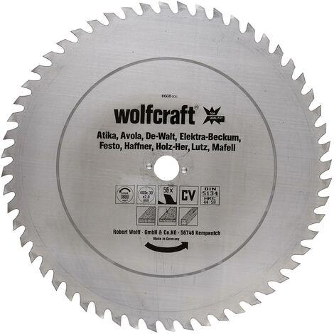 1 disco de sierra circular para madera 56 dientes Wolfcraft 300*30*1.6 mm
