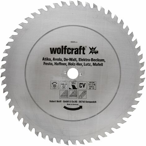 1 disco de sierra circular para madera 56 dientes Wolfcraft 350*30*1.8 mm