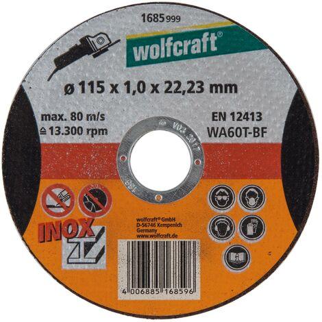 1 disco para cortar a precisión taladro ø 22,2 mm Ø 125 x 1,0 x 22,23 mm