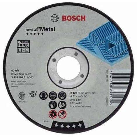 pour les M/étaux, X-LOCK, /Ø/125/mm, Al/ésage/: 22,23/mm, /Épaisseur/: 2,5/mm Bosch Professional 2608619255 Disque /à Tron/çonner /à Surface Plate  Expert for Metal