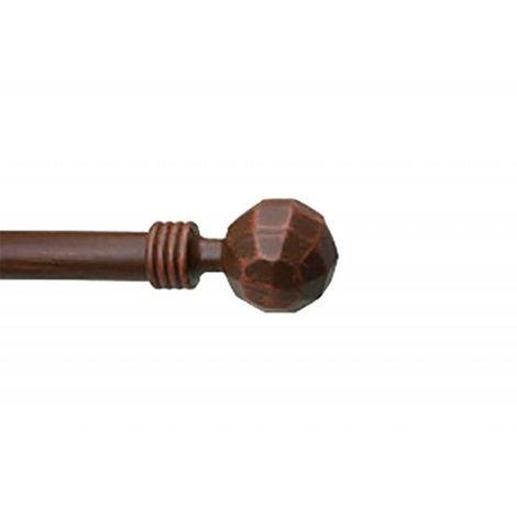 1 Embout Tringle à Rideau Boule à Facette ø20 Style Lasuré Coloris - Rouille - Rouille