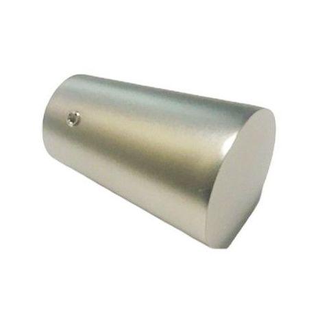 1 Embout Tringle Pommeau ø 20mm Nickel Satiné