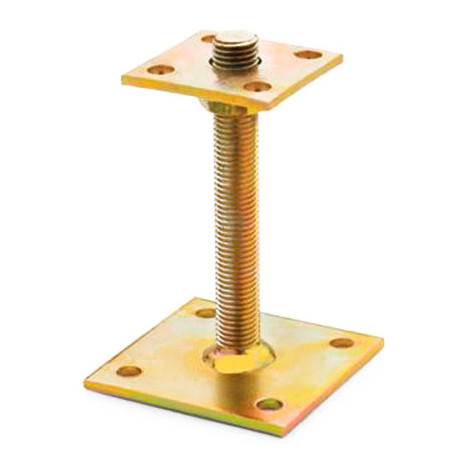 1 fixation de poteaux Bichromaté, hauteur réglable, 100 x 150 x70 xM20 mm - APAR070 - Index - -