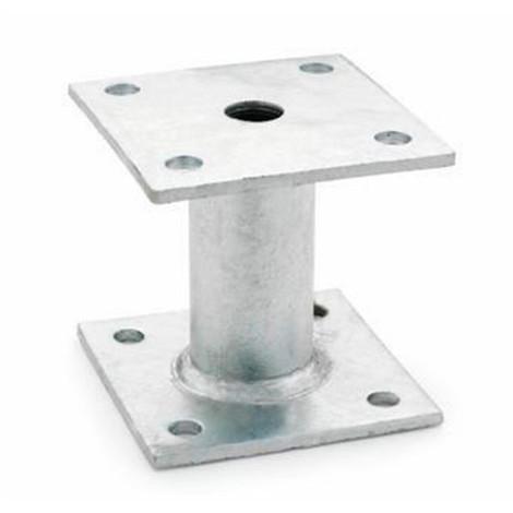1 fixation de poteaux galvanisé à chaud, à côtés égaux 70 x 90 x 70 x 80 x 90 mm - APPG070 - Index