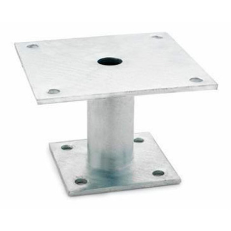 1 fixation de poteaux galvanisé à chaud à côtés inégaux 100 x 100 x 150 x 100 mm - APPD100 - Index - -