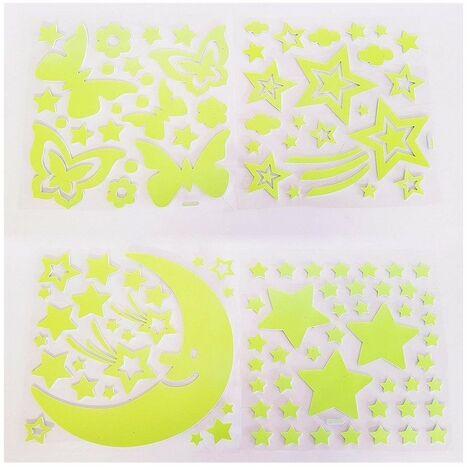 MEDIA WAVE store Pack da 300 sassolini Rossi Luminosi Decorativi Fluorescenti Glow in The Dark