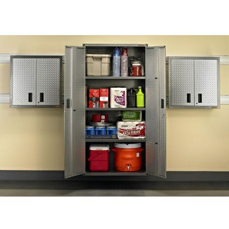 1 grand armoire (183x91) - petites armoires (71x71) - 7 rails muraux - PAC3ELT.