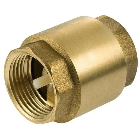 "1"" Inch BSP Brass Check Non-Return Valve Female With Plastic Insert"