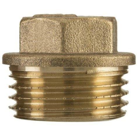 "1"" inch bsp thread brass pipe screw hex male blanking plug tube end cap"
