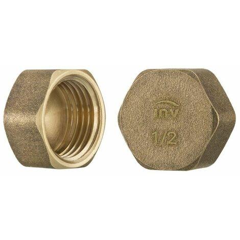 "1"" inch thread brass pipe screw hex female blanking plug tube end cap"