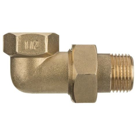 "1"" inch threaded pipe joint union elbow fittings female x male brass"