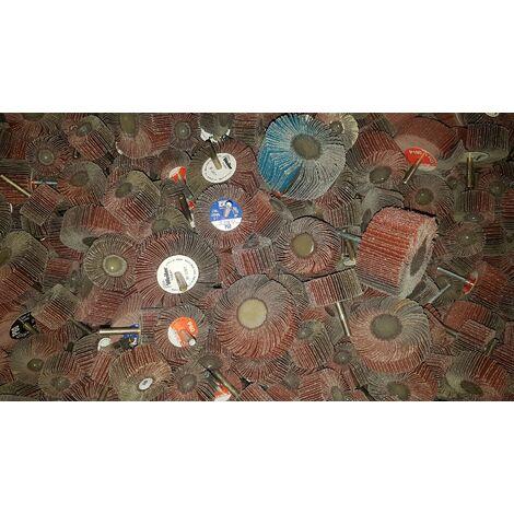 1 kg Lamellenschleifer Fächerschleifer Schleifmop Schaft Bohrmaschine