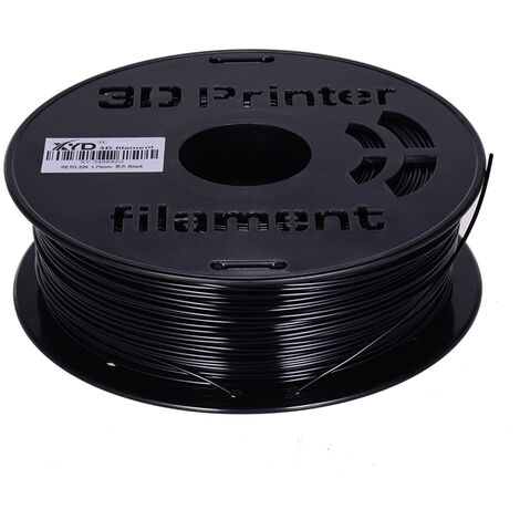1 Kg / Spool Petg Filament 1.75Mm Diametre Du Support D'Impression Recharges Pour Imprimantes 3D Dessin Stylos, Noir