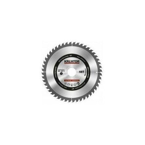 1 Lame De Scie Circulaire 210 Mm 2,2 Mm 48 Dents - Alésage 30 Mm - KREATOR