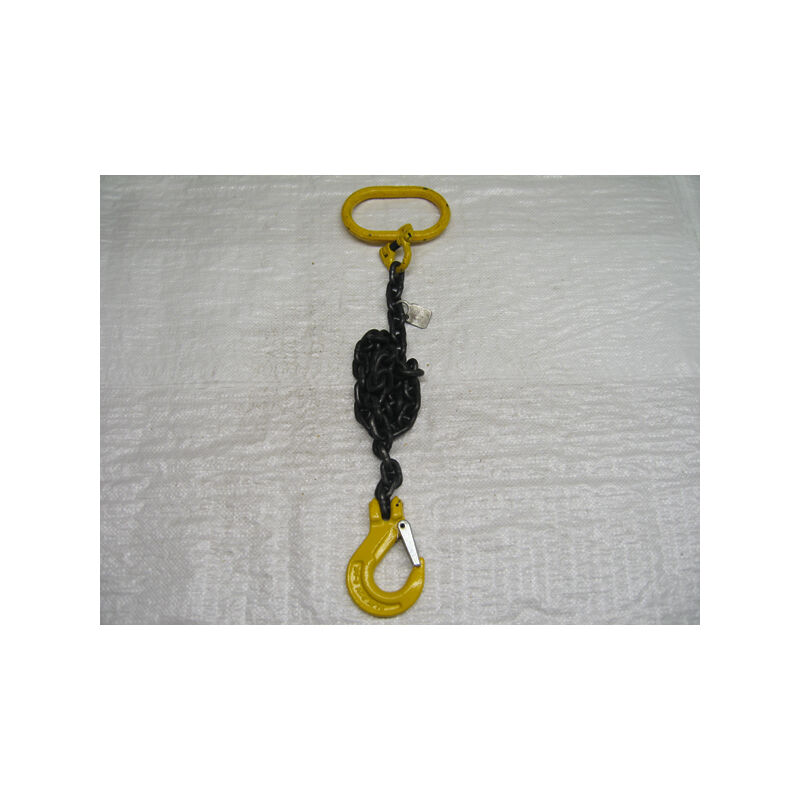 Image of 1 Leg Chain Sling with Clevis Sling Hook Grade 8 - 3.2 Metre EWL 7MM Chains 1.5T