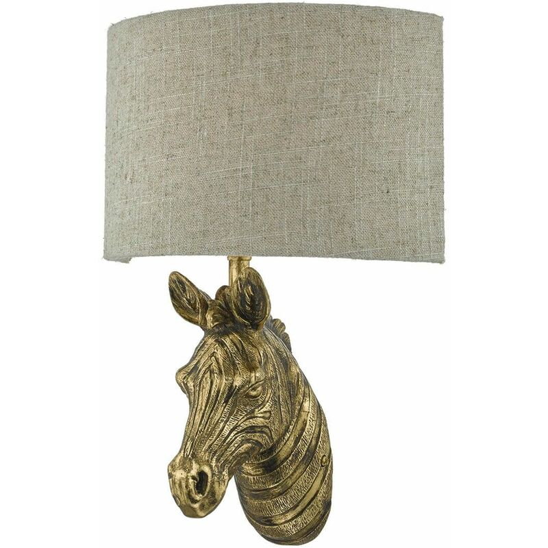 Image of 1-light gold and natural Abby wall light