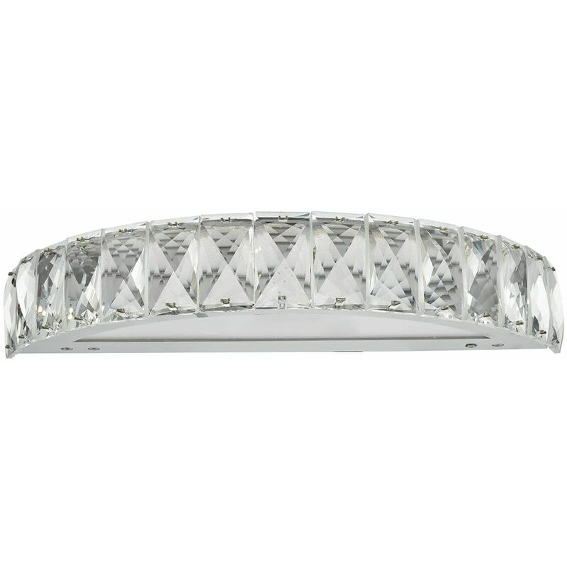 Image of 1-Light Polished Chrome and Crystal Wonder Wall Sconce