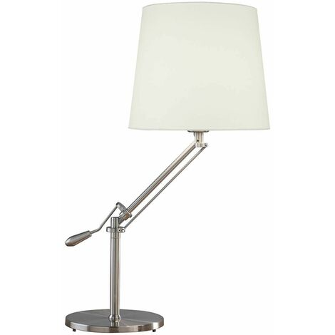 "main image of ""1-light satin chrome infusion table lamp"""