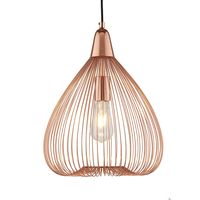 1 Light Wire Cage Pendant Copper by Washington Lighting