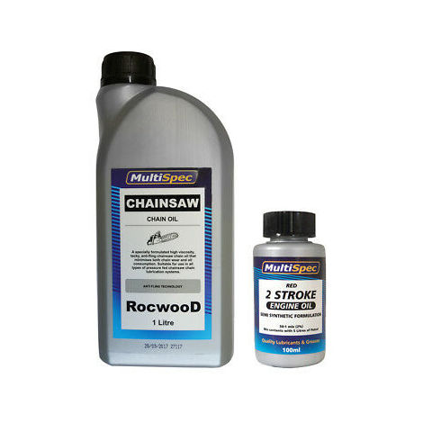 1 Litre Chain Oil and 100 ML 2 Stroke Oil For Chainsaws