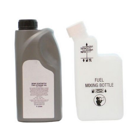 1 Litre Of 2 Stroke Oil And Fuel Petrol Mixing Bottle Ideal For Chainsaw Brushcutter