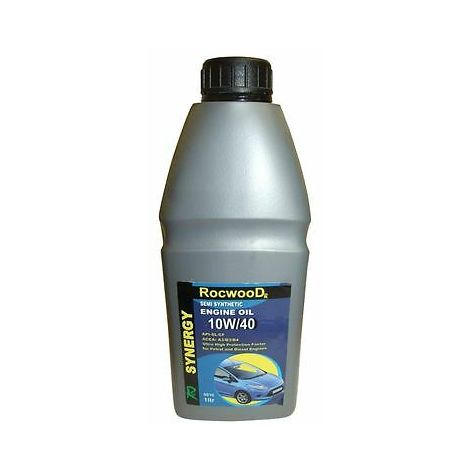 1 Litre Of Rocwood Synergy 10W/40 Engine Oil For Petrol And Diesel Engines