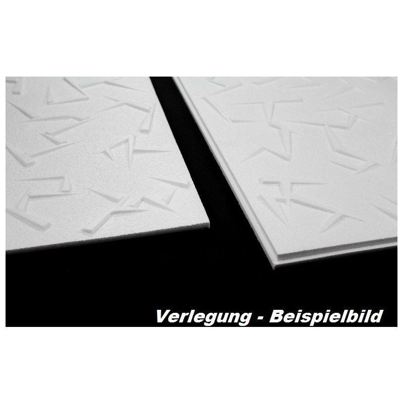 1 qm Deckenplatten Polystyrolplatten Stuck Decke Dekor Platten 50x50cm Nr.23
