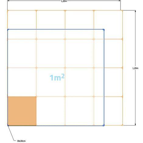 1 M2 ladrillos (baldosa) refractarios prensados 30x30x2,5 cm (para hornos y barbacoas) Ladrillo