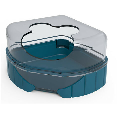 1 maison de toilette pour petits rongeurs. Rody3 . couleur bleu. taille 14.3 cm x 10.5 cm x 7 cm . pour rongeur.