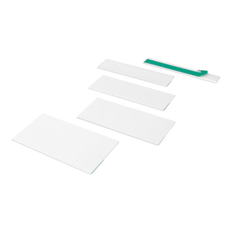 1 Meter | Flachprofile | selbstklebend | Auswahl | PVC | Hexim | weiss |HJ