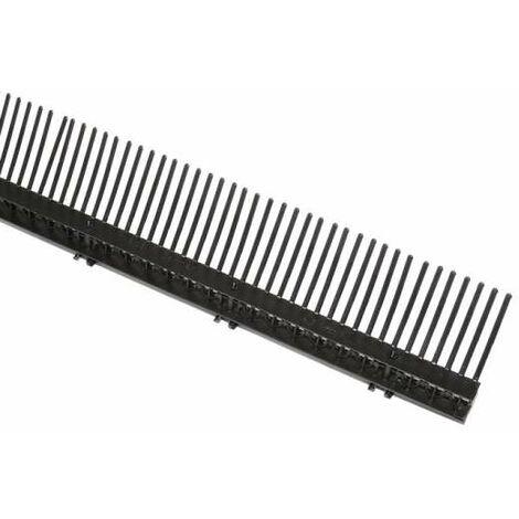 1 Meter IVT Traufenlüftungselement mit Kamm, Traufkamm schwarz