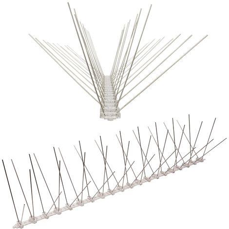 1 Meter Taubenspikes 4-reihig auf Polycarbonat - hochwertige Lösung für Vogelabwehr Taubenabwehr Spikes