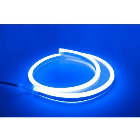 - 1 mètre de Néon Flexible LED Bleu - 220V - 10W - IP67 (Prise non fournie)