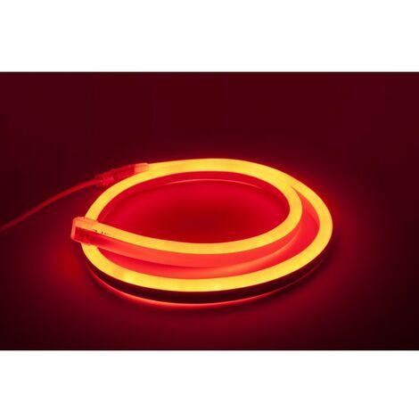 - 1 mètre de Néon Flexible LED Rouge - 220V - 10W - IP67 (Prise non fournie)