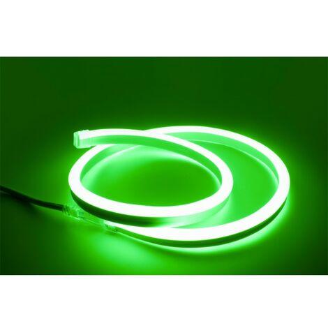 - 1 mètre de Néon Flexible LED Vert - 220V - 10W - IP67 (Prise non fournie)
