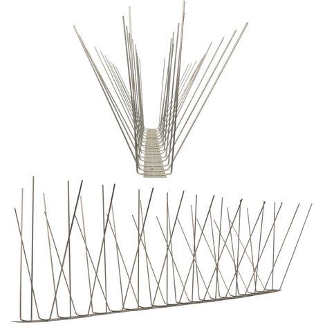 1 metro de Púas anti-gaviotas V2A -Standard con base de acero inoxidable - 4-hileras de Púas anti-gaviotas la solución de calidad para el control de aves