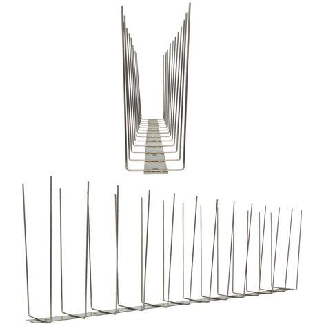 1 metro de Púas anti-gaviotas V2A -Titan con base de acero inoxidable - 2-hileras de Púas anti-gaviotas la solución de calidad para el control de aves