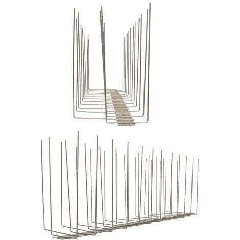 1 metro de Púas anti-gaviotas V2A -Titan con base de acero inoxidable - 3-hileras de Púas anti-gaviotas la solución de calidad para el control de aves