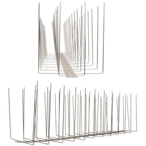 1 metro de Púas anti-gaviotas V2A -Titan con base de acero inoxidable - 4-hileras de Púas anti-gaviotas la solución de calidad para el control de aves