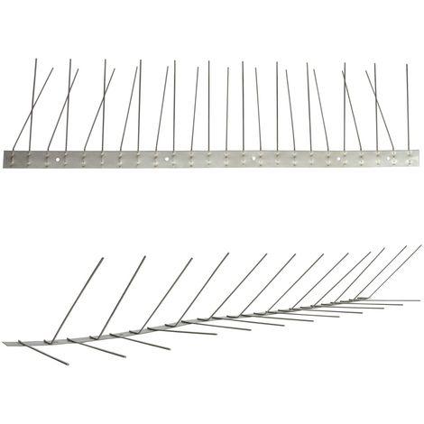 1 metro de Púas antipalomas para canalón -Titan con base de acero inoxidable - 2-hileras de Púas antipalomas la solución de calidad para el control de aves