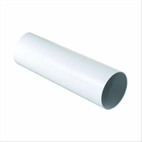 """main image of """"1 mt tubo per aerazione canalizzata in pvc ø 125 mm sezione tonda"""""""
