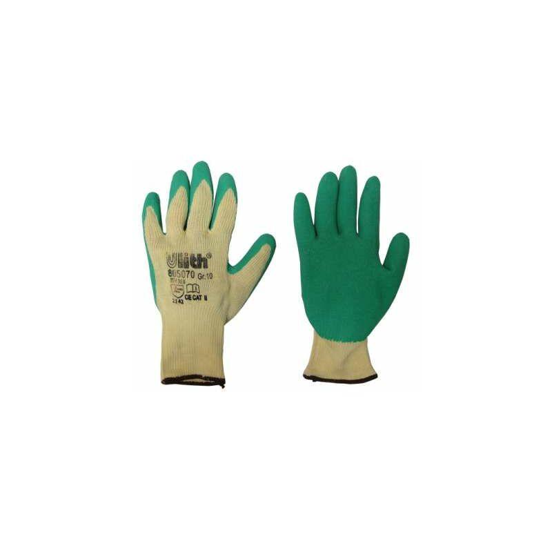 1 Paar Arbeitshandschuhe Grip Latex grün Cat2 EN388 Gr.10