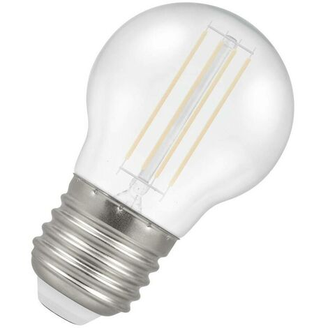 (1 Pack) Crompton Lamps LED Golfball 4.5W ES-E27 Harlequin IP65 (25W Equivalent) White ES Screw E27 Round Outdoor Festoon Coloured Filament Light Bulb
