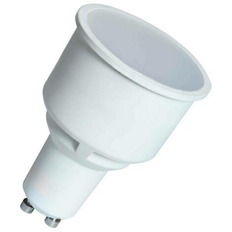 (1 Pack) Crompton Lamps LED GU10 Spotlight 5.5W Long Barrel 75mm (50W Equivalent) 2700K Warm White 100° 400lm Long-Barrel Long-Necked Replacement Light Bulb