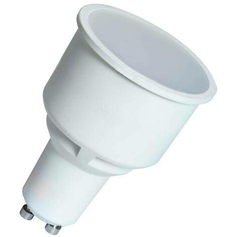 (1 Pack) Crompton Lamps LED GU10 Spotlight 5.5W Long Barrel 75mm (50W Equivalent) 4000K Cool White 100° 430lm Long-Barrel Long-Necked Replacement Light Bulb