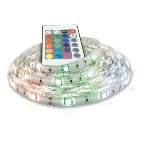 (1 Pack) Phoebe LED 5 Metre Strip Kit 32W Dimmable Flexi-Strip with Remote IP65 RGB Flexible Kitchen Bedroom Under Cabinet Ceiling Light