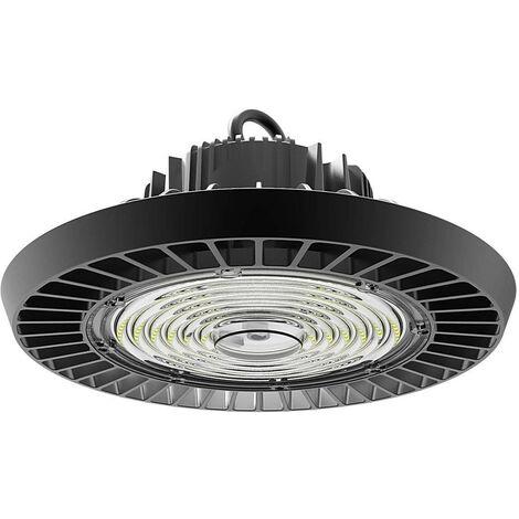 (1 Pack) Phoebe LED High Bay 100W Keto IP65 IK10 4000K Cool White 90° Black 13000lm Warehouse UFO Light